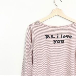 Junk Food P.S. I Love You Shirt